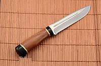 Нож охотничий с рукоятью из Красного дерева с кожаным чехлом + эксклюзивные фото