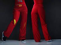 Женские спортивные штаны красного цвета
