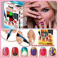 Набор для дизайна росписи ногтей Hot Designs Nail Art Pens 2 в 1
