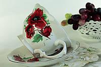 Чашка с блюдцем Троянда с маками.
