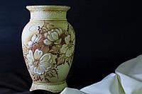 Ваза Греческая средняя шуба с элементами золота.