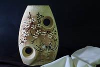 Ваза Инь-янь средняя шуба с элементами золота.