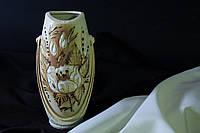 Ваза Калипсо малая шуба с элементами золота.