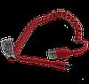 Силиконовый кабель USB - micro USB со спиральным проводом, Polaroid, 1 метр,