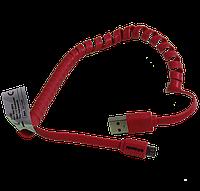 Силиконовый кабель USB - micro USB со спиральным проводом, Polaroid, 1 метр, , фото 1