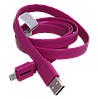 Плоский силиконовый кабель USB - micro USB, 1 метр, ширина 1,1см