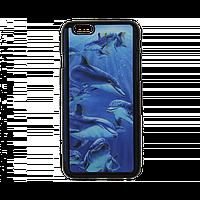 Чехол  для Apple iPhone 6/6s с 3D стерео-рисунком дельфины, фото 1