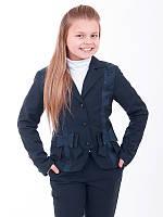 Школьный жакет для девочки из костюмной ткани КРИСТИНА