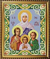 Схема для вышивания бисером Икона Святые Вера, Надежда, Любовь и мать София