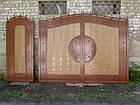 """Ворота ковані з жатым ефектом двоколірні """"Егіда"""" (світлі), фото 3"""