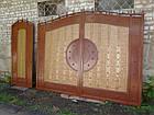 """Ворота ковані з жатым ефектом двоколірні """"Егіда"""" (світлі), фото 2"""
