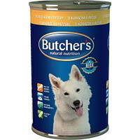 Butchers Natural Nutrition  Chicken & Rice  Консерва для собак с курица + рис 1.2кг