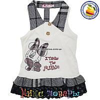 Детский сарафан Туника с Микки для девочек от 2 до 5 лет (4377-1)