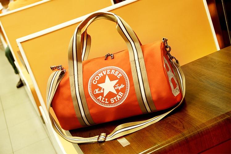 "Спортивная сумка ""баллон"" Converse, Конверс оранжевая ( код: IBS055J )"