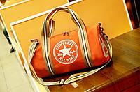 "Спортивная сумка ""баллон"" Converse, Конверс оранжевая ( код: IBS055J ), фото 1"