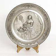 Тарелка настенная, олово, Германия, Молочница, Ян Вермер, фото 1