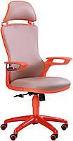 Офисное кресло Бумер к/з хаки,каркас оранжевый