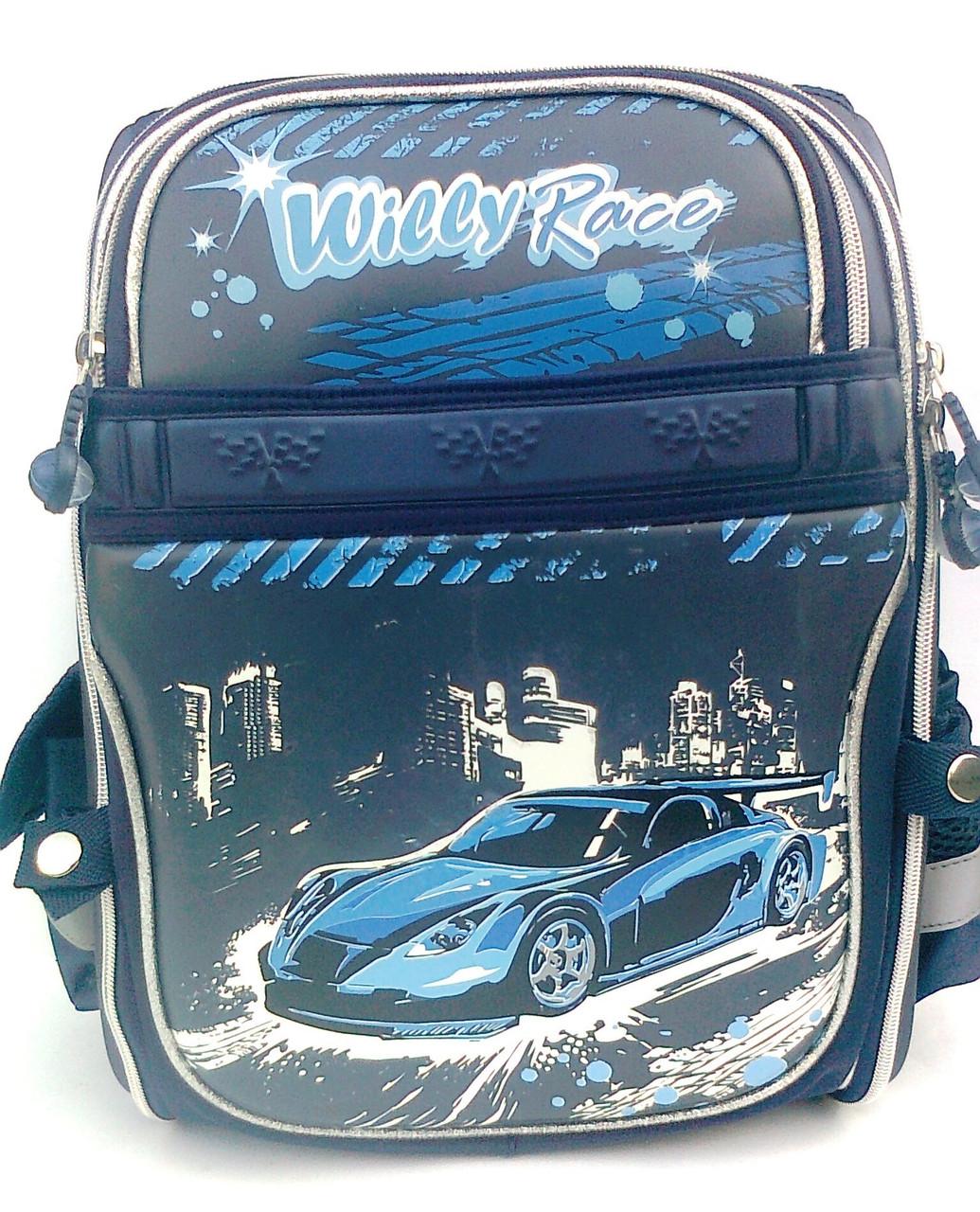 Ранец школьный WL-826 машина синий