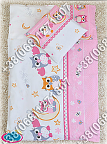 Пододеяльник 105х145 см на одеяло в детскую кроватку. Цвета в ассортименте, фото 3