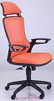 Офисное кресло Бумер сетка оранж./каркас черный