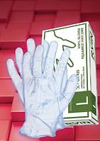 Перчатки виниловые RVIN T (50 пар, с пудрой)