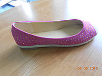 Легкие текстильные  розовые туфельки-эспадрильи Rikkardo