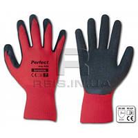 Перчатки защитные полиэстеровые устойчивы к разрывам и порезам perfect grip red 7