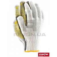 Rdzn wy - 10 перчатки защитные х/б с односторонним слоем пвх TM Reis