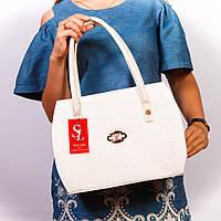 Белая женская сумка лаковая оригинальная №1335wl