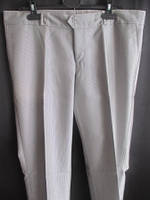 Серые мужские брюки тонкие на пуговицах