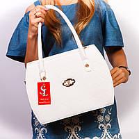 Белая большая сумка женская дамская №1335wnr