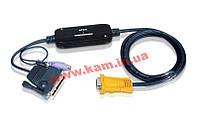 Адаптер с кабелями для подключения SUN к КВМ через 15-пиновый специальный и компактный раз (CV-130A)