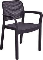 Кресло пластиковое SAMANNA ,цвет коричневый