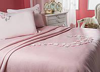 Комплект элитного постельного белья хлопок-бамбук Pink.