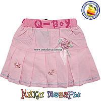 Летняя юбка нежного цвета для девочек от 2 до 7 лет (4385)