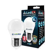 Светодиодная лампа LedEX 6W E27 570Lm 3000K Premium (100868)