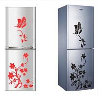 """Наклейки на холодильник """"Цветы и Бабочки"""" – аппликация"""