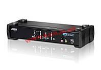 CubiQ™ 4-портовый коммутатор USB 2.0 DVI KVMP™, кабели в комплекте (CS1764A-AT-G)