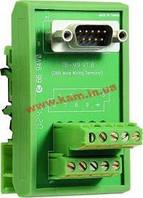 Плата клеммников с разъемом DB9 Male, монтаж на DIN-рейку (TB-M9)