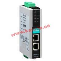 Шлюз DF1 в Ethernet/ IP, 1xRS-232/ 422/ 485, 2xEthernet 10/ 100, монтаж на DIN-рейку (MGate EIP3170)