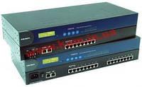 16xRS-232 230.4кбод Асинхронный коммуникационный 10/ 100Mбит Ethernet сервер (CN2510-16)