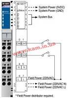 4-канальный модуль дискретного ввода с изоляцией, номинальное напряжение ~220 В (M-1451)