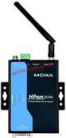 Wireless Ethernet IEEE 802.11 a/ b/ g сервер устройств с интерфейсом 1xRS-232/ 422/ 4 (NPort W2150A)