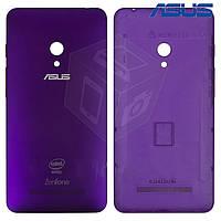 Задняя панель корпуса для Asus ZenFone 5 A501CG, фиолетовая, оригинал
