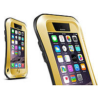 Чехол противоударный Love Mei Small Waist для Apple iPhone 6 6S 4.7 золотой
