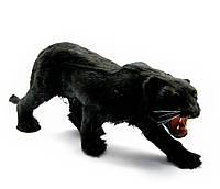 Фигурка пантера (из кожи и меха)