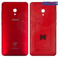 Задняя панель корпуса для Asus ZenFone 5 Lite (A502CG), красная, оригинал