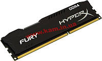 Оперативная память Kingston 4Gb DDR4 2400MH z HyperX Fury Black (HX424C15FB/4)