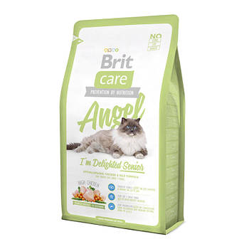 Сухой корм Brit Care Cat Angel для пожилых кошек с курицей и рисом, 2 кг