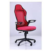 Кресло Рэйсер (Racer) - сетка красная,каркас черный